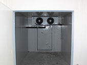 Stainless steel ice storage room